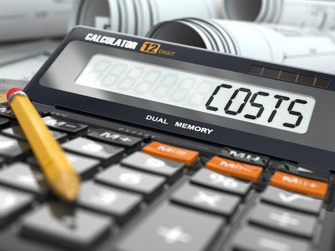 Concept of costs calculation, Calculator.