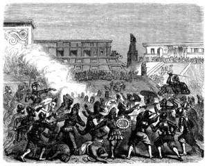 Conquistador Cortes : Killing the Aztecs - 16th century