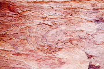 abstract in red stone from Petra, Jordan
