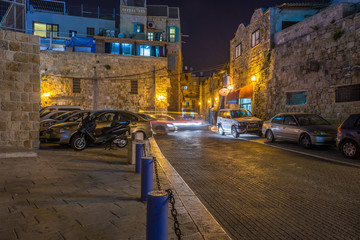Fototapete - Akko at night