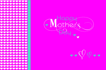 Happy Mothers Day greeting on bright pink background