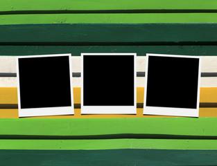 Wooden floor Photo frames