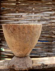 Wooden vessel-Senegal