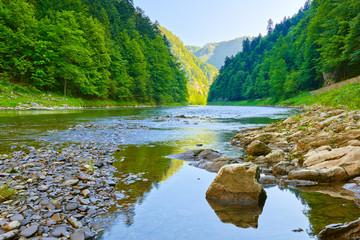 The Dunajec River Gorge. Pieniny National Park.