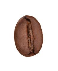 In de dag koffiebar Semilla,grano de café aislado en fondo blanco.