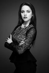 Vogue Style. Glamour Lady. Fashion. Gorgeous Woman Portrait.