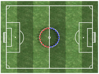 Players stand in a circle #6