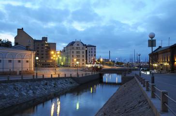 Night view of the Helsinki