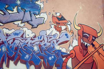 Graffiti lettrage couleur