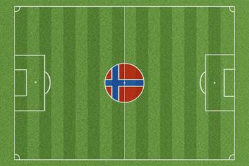 Fussballfeld Norwegen