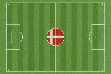 Fussballfeld Dänemark