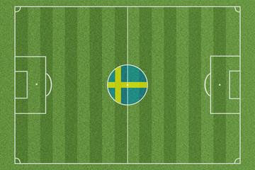 Fussballfeld Schweden