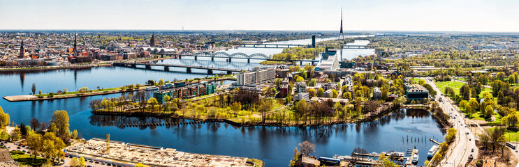 Panorama of Riga city. Latvia Wall mural