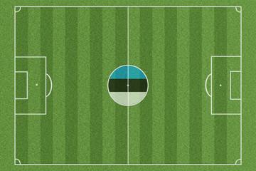 Fussballfeld von oben