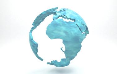 Globo, mondo, planisfero liquido. Acqua