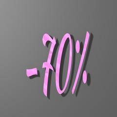 pink low poly symbol