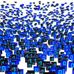 Binary code - 3d Render