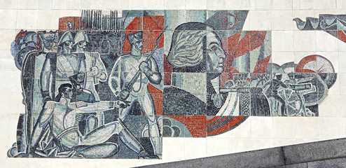 Mosaic depicting the victory of Russian troops
