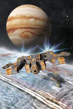 Europa Jupiter Moon Base