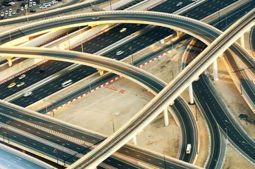 Crossroad in Dubai (United Arab Emirates)