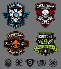 Cycle patches emblem set