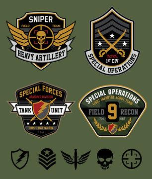 Special ops patch emblem set