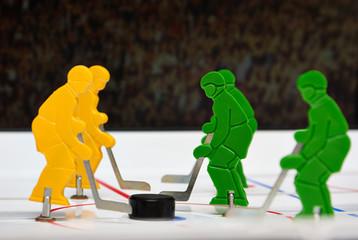 Five hockey players