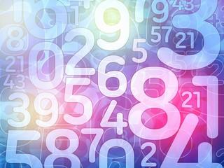 colorful random number background illustration