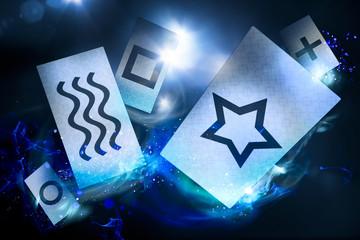 psychic cards on a dark background