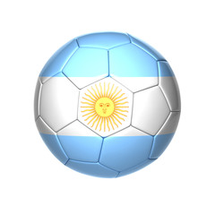 football ball with Argentina flag