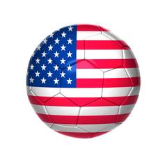 football ball with USA flag