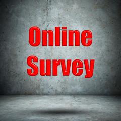 Online Survey concrete wall