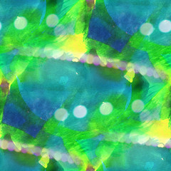 bokeh colorful pattern water texture paint abstract seamless blu
