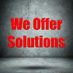 We Offer Solutions concrete wall
