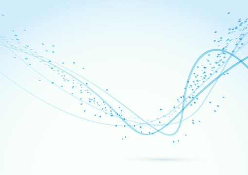 Particle abstract swoosh lines background