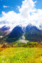 Wall Mural - Picturesque scenery near Mont blanc, Alps