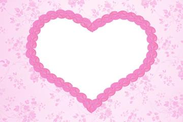 Nostalgie-Background mit rosa Herz