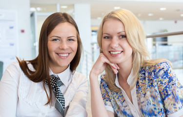 Portrait of happy young businesswomen, smiling