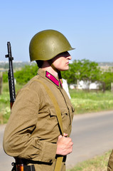 Soviet soldiers. Veteran of the Second World War
