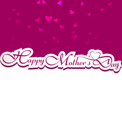 Beautiful card happy mother's day text colorful vector design