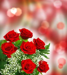Rosen vor Bokehhintergrund