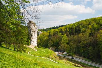 Fototapeta Maczuga Herkulesa, rock in National Ojcow Park, Poland obraz