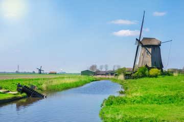 Aluminium Prints Mills Traditional Dutch countryside