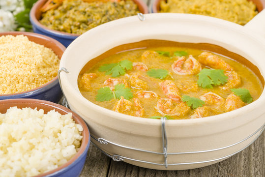Moqueca de Camarao - Brazilian prawns in coconut milk and dende