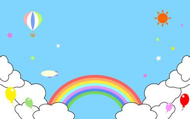 空と雲と虹