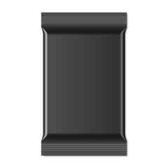 Black Blank Foil Food Snack Sachet Bag Packaging