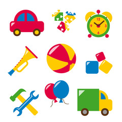 baby toys - horn, car, puzzle, clock, ball, tool, truck, ball