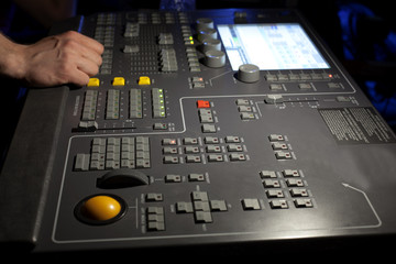 Control panel for stage illumination in the theater