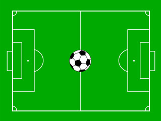 football field with ball