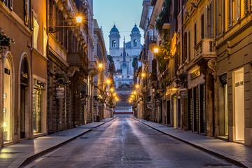 In de dag Rome Via Dei Condotti, Rome